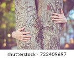 love nature concept  woman give ... | Shutterstock . vector #722409697