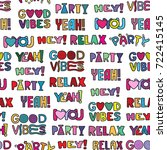 vector doodle girly party... | Shutterstock .eps vector #722415145
