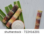brown sugar produced from sugar ... | Shutterstock . vector #722416201