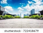 modern buildings at riverbank | Shutterstock . vector #722418679