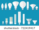 vector set of led bulbs with... | Shutterstock .eps vector #722419417
