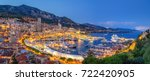 monaco port evening view | Shutterstock . vector #722420905