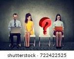 people waiting for job... | Shutterstock . vector #722422525