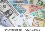 paper currencies from different ... | Shutterstock . vector #722423419