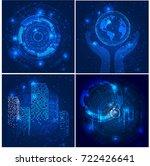 vector abstract futuristic... | Shutterstock .eps vector #722426641
