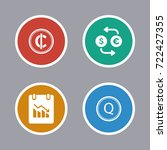 business icons set | Shutterstock .eps vector #722427355