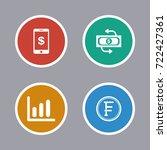 business icons set | Shutterstock .eps vector #722427361