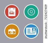 business icons set | Shutterstock .eps vector #722427409