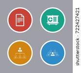 business icons set | Shutterstock .eps vector #722427421