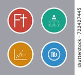 business icons set | Shutterstock .eps vector #722427445