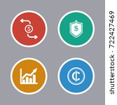 business icons set | Shutterstock .eps vector #722427469