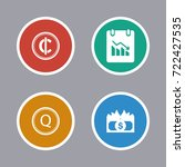 business icons set | Shutterstock .eps vector #722427535