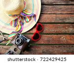 top view of equipment for... | Shutterstock . vector #722429425