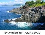 the daepo jusangjeolli basalt... | Shutterstock . vector #722431939