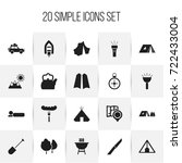 set of 20 editable travel icons....   Shutterstock .eps vector #722433004