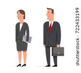 set of businessman character... | Shutterstock .eps vector #722433199