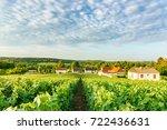 scenic landscape in the...   Shutterstock . vector #722436631