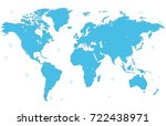 blue world map | Shutterstock .eps vector #722438971