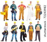 industrial contractors workers... | Shutterstock . vector #72243982