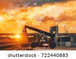 business logistics concept ... | Shutterstock . vector #722440885