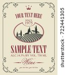 vector label for wine with a... | Shutterstock .eps vector #722441305