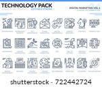 digital marketing icons set.... | Shutterstock .eps vector #722442724
