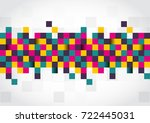 abstract template with... | Shutterstock .eps vector #722445031