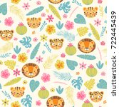 baby seamless pattern with...   Shutterstock .eps vector #722445439