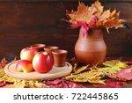 Autumn Still Life. Red Apples...