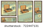 the poster in vintage style on... | Shutterstock .eps vector #722447131
