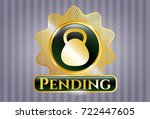 gold emblem or badge with... | Shutterstock .eps vector #722447605