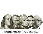 isolated dollars on white...   Shutterstock . vector #722450467