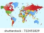 color world map | Shutterstock .eps vector #722451829