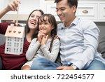 happy family spending time... | Shutterstock . vector #722454577