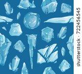 ice caps debris snowdrifts... | Shutterstock .eps vector #722456545