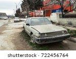 Old Abandoned Car Near Auto...