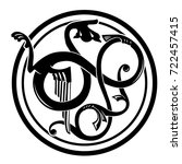 viking pattern. element of... | Shutterstock .eps vector #722457415