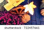 pumpkin for halloween   Shutterstock . vector #722457661