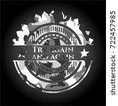try again and again on grey... | Shutterstock .eps vector #722457985