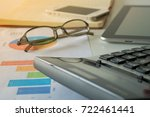 doing finances and calculate on ... | Shutterstock . vector #722461441