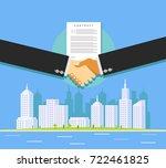 business deal. real estate... | Shutterstock .eps vector #722461825