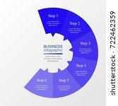 vector infographic template for ... | Shutterstock .eps vector #722462359