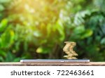 coins are risky on smart phone... | Shutterstock . vector #722463661