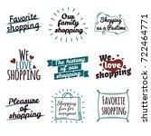 shopping label logotypes...   Shutterstock . vector #722464771
