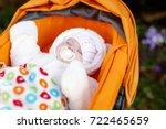portrait of newborn baby in... | Shutterstock . vector #722465659