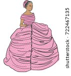 a beautiful woman in a lacy... | Shutterstock .eps vector #722467135