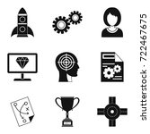 own business icons set. simple... | Shutterstock .eps vector #722467675