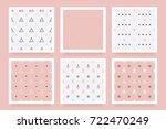 minimal modern christmas... | Shutterstock .eps vector #722470249