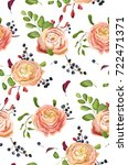vector seamless floral pattern... | Shutterstock .eps vector #722471371
