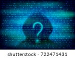 hacker silhouette with question ... | Shutterstock .eps vector #722471431